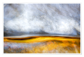 Póster Premium  Abstract Silver and Gold - Sander Grefte
