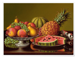 Póster Premium  Still Life with Fruit - Levi Wells Prentice