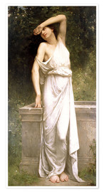 Póster Premium A Classical Beauty by a Well