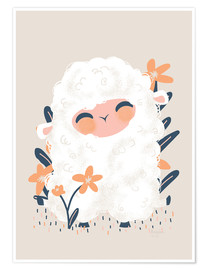 Póster Premium  Animal Friends - The sheep - Kanzilue