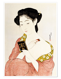 Póster Premium  A Woman in Underclothes - Goyo Hashiguchi