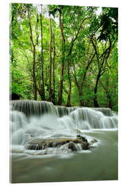 Quadro em acrílico  Waterfall in forest of Thailand