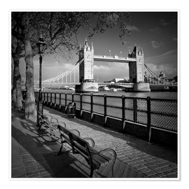 Póster Premium  LONDON Tower Bridge - Melanie Viola
