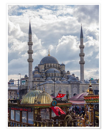 Póster Premium A mosque in Istanbul