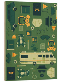 Quadro de madeira  Breaking Bad - Tracie Andrews
