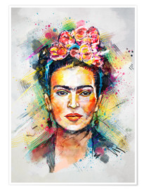 Póster Premium  Frida Flower Pop - Tracie Andrews