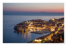 Póster Premium  Dubrovnik at Sunset - Mike Clegg Photography