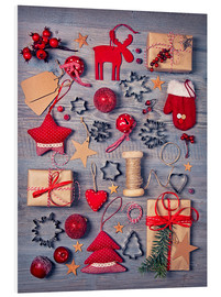 Quadro em PVC  Christmas deco auf dem wooden background - Elena Schweitzer