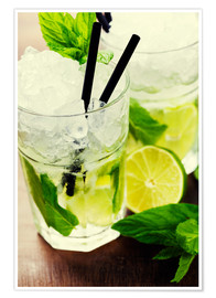 Póster Premium  Mojito cocktail with ingredients