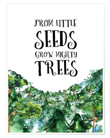 Póster Premium From little seeds grow mighty trees