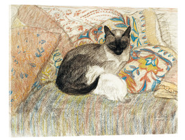 Quadro em acrílico  Siamese Cat and her kitten - Théophile-Alexandre Steinlen