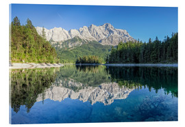 Quadro em acrílico  Lake Eibsee with Mount Zugspitze - Dieter Meyrl