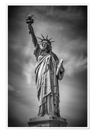 Póster Premium  NEW YORK CITY Statue of Liberty - Melanie Viola