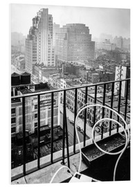 Quadro em PVC  New York: View from penthouse, 56 Seventh Avenue, Manhattan - Christian Müringer