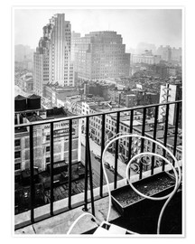 Póster Premium  New York: View from penthouse, 56 Seventh Avenue, Manhattan - Christian Müringer