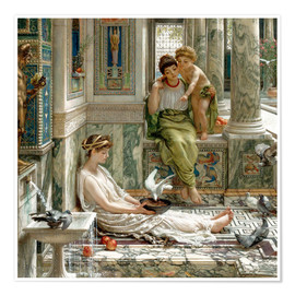 Póster Premium  The corner of the villa - Sir Edward John Poynter