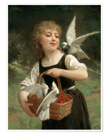 Póster Premium  Messenger of Love - Emile Munier