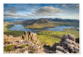Póster Premium  View from Stac Pollaidh in Scotland - Michael Valjak