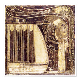 Póster Premium  The Opera of the Sea - Margaret MacDonald Mackintosh