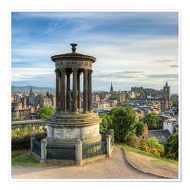 Póster Premium  Edinburgh Scotland View from Calton Hill - Michael Valjak