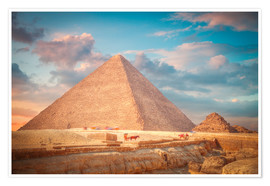 Póster Premium  great pyramid of Giza in Egypt