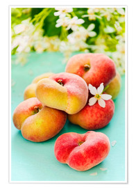Póster Premium  Summer peaches - K&L Food Style