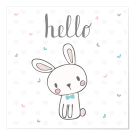 Póster Premium  Hello Bunny - Kidz Collection