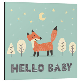 Quadro em alumínio  A little fox standing in the forest - Kidz Collection