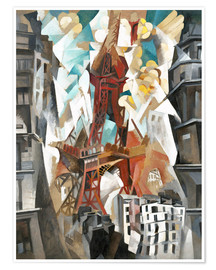 Póster Premium Champs de Mars: The Red Tower
