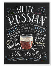 Póster Premium  white russian - Lily & Val