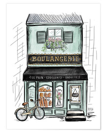 Póster Premium  French Shop Front - Boulangerie - Lily & Val