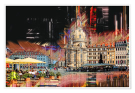 Póster Premium  The new old Fauenkirche in Dresden - Peter Roder