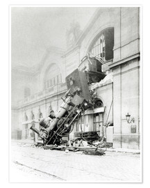 Póster Premium  Train accident at the Gare Montparnasse in Paris on 22nd October 1895