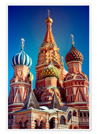 Póster Premium  St. Basil's Cathedral, Russia