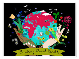 Póster Premium Darling Planet Earth