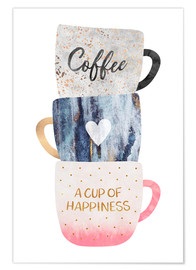 Póster Premium A cup of happiness