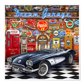Póster Premium Dream Garage