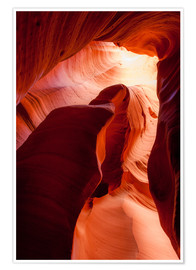 Póster Premium  Formation in Canyon X slot canyon, Page, Arizona, USA - Peter Wey