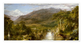 Póster Premium  Heart of the Andes - Frederic Edwin Church