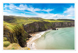 Póster Premium  Carrick-a-Rede, Coast of Northern Ireland