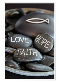 Póster Premium Love Hope Faith