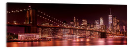 Quadro em acrílico  Brooklyn Bridge and Manhattan Skyline - Melanie Viola