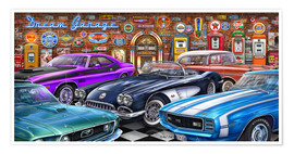Póster Premium Dream Garage II