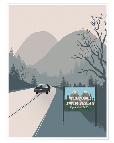 Póster Premium Welcome to Twin Peaks