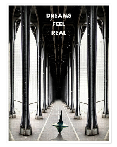 Póster Premium Inception, dreams feel real