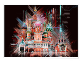 Póster Premium  Moscow Basilica Cathedral - Peter Roder
