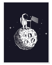Póster Premium  The first man on the moon - Kidz Collection