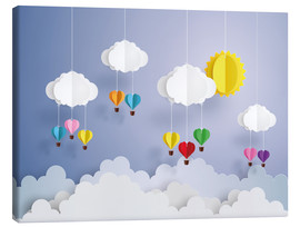 Quadro em tela  Balloon ride in the clouds - Kidz Collection
