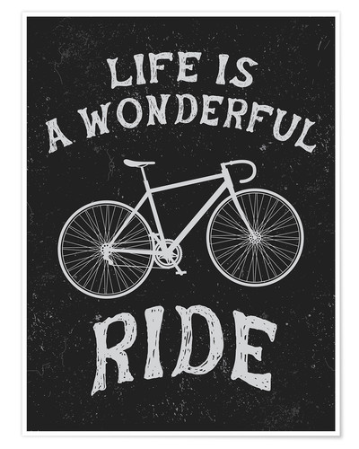 Póster Premium Life is a wonderful ride