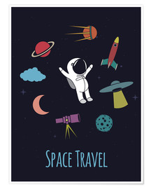 Póster Premium  Space Travel Kid - Kidz Collection